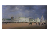 Panorama of Moscow  1839 Left Panel of the Triptych