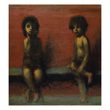 Two Children Seated