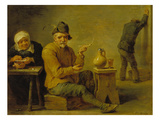 Two Farmers and an Old Woman in a Tavern