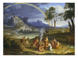Landscape with Noah Offering a Sacrifice of Gratitude  1803