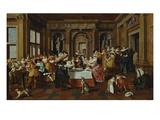 The Banquett  1628 (The Architectural Elements by Dirck Van Delen)