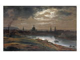 Blick Auf Dresden Bei Abend  1845