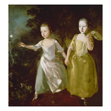 The Painter's Daughters Chasing a Butterfly Probably About 1756