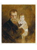 Self-Portrait with Daughter  1900