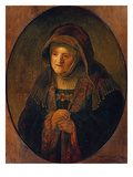 The Mother of the Artist as Prophet Hannah  1639