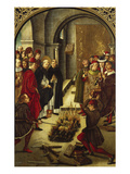 The Trial by Fire (The Burning of the Books or St Dominic De Guzman and the Albigensians)