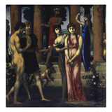"The Wedding Centre Panel of the Triptych ""The Courtship""  1884/85-1887"