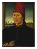 Portrait of a Man Wearing a High Red Cap  about 1470