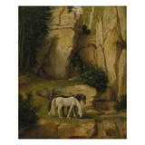 Hermit Watering His Horses  about 1845