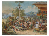 Target Practice at a Marksmen-Club in Bayerisch-Zell  1853