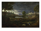 Landscape During a Thunderstorm with Pyramus and Thisbe  1651