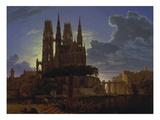 Dom Ueber Einer Stadt Nach 1813 (Kopie Von KEBiermann Um 1830)
