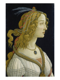 Idealized Portrait of a Lady (Allegedly Simonetta Vespucci)  about 1480