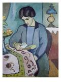 Frau Des Kuenstlers (Studie Zu Einem Portraet)  1912