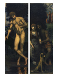 Triptych the Suit  Right Panel: Narcissus  Left Panel: Lovers/Engagement  1884/85-1887