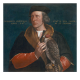 Portrait of Robert Cheseman Holding a Falcon  1533