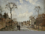 Winterliche Strasse in Louvecienne  1872