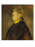 Fuerst Otto Von Bismarck Im Profil Mit Kuerassierhelm  um 1900