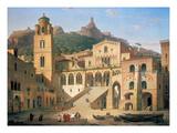 Der Domplatz Von Amalfi  1859