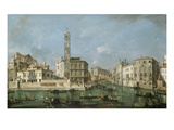 Canal Grande Near San Geremia  about 1760