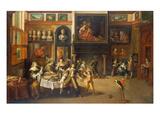 Gastmahl Im Hause des Buergermeisters Rockox  um 1630/1635