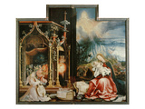 Isenheimer Altar Inner Center Panel: Angel Concert and Nativitiy