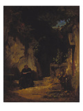 Hermit with Girls  about 1870
