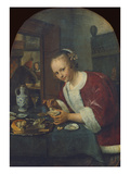 Girl Eating Oysters  about 1658-60