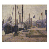 The Mary in the Port of Honfleur  1886