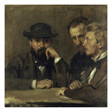 Self-Portrait with Hildebrand and Grant  1873