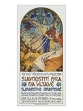 Plakat Fuer Das Historienspiel Slawische Bruederlichkeit Zum 8 Sokol-Treff  Prag 1926