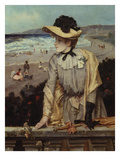 Young Woman at the Beach (Or: Parisian with Sea-Landscape as Backdrop)