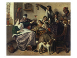 Cheerful Party (The Family of the Painter)  about 1657
