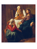 Christ in the Home of Martha and Mary  about 1654