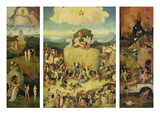 Triptych  the Haywain (Totale  Opened) About 1490