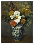Dahlias in a Delft Vase  1873