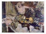Large Still-Life with Person  Birthday Picture  1911