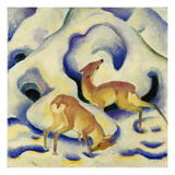 Rehe Im Schnee  1911