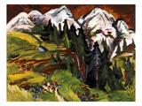 Landschaft Auf Der Staffelalp  1918