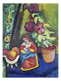 Stilleben Mit Madonna  Petunie Und Aepfeln  1911