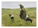 Woman with Goats on the Dunes  1890