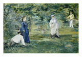 The Croquet Party  1873
