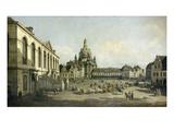 Der Neumarkt Zu Dresden  Vom Juedenhofe Gesehen  1749