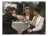 Breakfast in the Garden of Max Halbe  1899