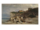 Women Bathing  Dieppe Ii  about 1857