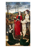 Portinari-Altar Rechter Fluegel: die HllMargarethe Und Maria Magdalena