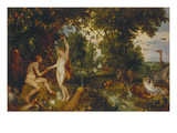 The Garden of Eden with the Fall of Man  about 1616