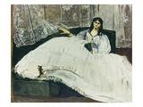 Dame Mit Faecher (La Maitresse De Baudelaire)  1863