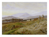 Landscape in the Riesengebirge (Bohemian Landscape)  about 1835  Unfinished
