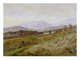 Landscape in the Riesengebirge (Bohemian Landscape)  about 1835  Unfinished